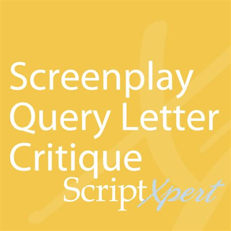 Screenplay how to write a query letter